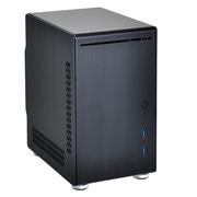 联力 黑色Mini-ITX机箱(全铝外壳/底部配备硬盘底座/双前置USB 3.0接口) PC-Q21B