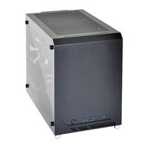 联力 黑色Mini-ITX机箱(侧透/全铝外壳/270mm显卡/支持多水冷设备)PC-Q10WX产品图片主图