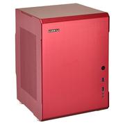 联力 红色Mini-ITX机箱(全铝外壳/双PCI插槽/双前置USB 3.0接口) PC-Q34RD