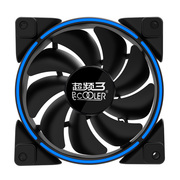 超频三 皓月 12CM蓝光 机箱风扇 (水冷排散热/电脑电源风扇/CPU风扇/减震静音/赠4颗螺丝)
