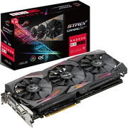 华硕 ROG-STRIX-RX580-O8G-GAMING 8G/8000MHz 256bit GDDR5 PCI-E3.0显卡