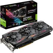 华硕 ROG STRIX-GTX1080TI-11G-GAMING 1480-1620MHz 11G/11010MHz GDDR5X PCI-E3.0显卡