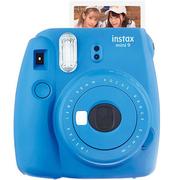 富士 INSTAX 一次成像相机 MINI9相机 海水蓝 奢华套装(10张胶片)
