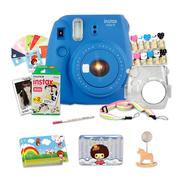 富士 INSTAX 一次成像相机 MINI9相机 海水蓝 实用套装(20张胶片)