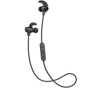 漫步者 W280BT 磁吸入耳式 运动蓝牙线控耳机 黑色