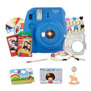 富士 INSTAX 一次成像相机 MINI9相机 海水蓝 实用套装(10张胶片)