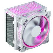 乔思伯 CR-201 RGB版本 RGB CPU散热器 (白色/多平台/4热管/温控/12CM风扇/支持AURA RGB/附硅脂)