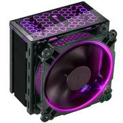 乔思伯 CR-201 RGB版本 RGB CPU散热器 (黑色/多平台/4热管/温控/12CM风扇/支持AURA RGB/附硅脂)