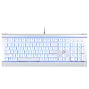 达尔优 EK812 104键 背光全键无冲合金游戏机械键盘 白银 青轴