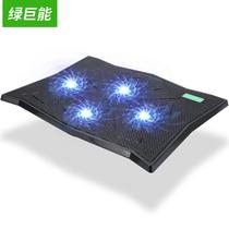 绿巨能 笔记本散热器 游戏本散热器 笔记本支架 散热支架 四风扇LED发光可调节风速 K4产品图片主图