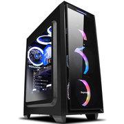 鑫谷 光韵halo6中塔游戏机箱 黑色(大侧透+深透面板/120水冷位/支持ATX大板/支持SSD)