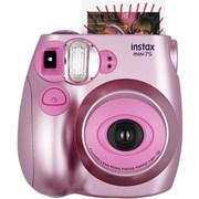 富士 INSTAX 一次成像相机  MINI7s相机 甜蜜金属粉 超值套餐(含10张胶片)