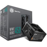 酷冷至尊 额定450W MWE450游戏电源(80PLUS铜牌/DCtoDC架构/日系电容/酷冷FP120静音风扇)