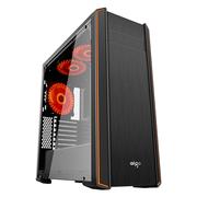 爱国者 黑爵8440 黑色 中塔式机箱(支持ATX主板/标配风扇*3/单面玻璃侧板/顶盖支持360冷排)