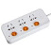 金河田  PST-207B 插座/排插/插排/插线板/插板/拖线板/接线板 分控3位3米