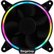 鑫谷 光致RGB风扇(内置RGB灯光控制芯片/12CM流光LED光圈/大4pin供电/环形多彩变换机箱风扇)