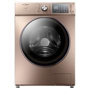 美的 MG90-1405WIDQCG 9公斤大容量玫瑰金变频全自动滚筒洗衣机 洗衣液精准自动投放 快净洗涤