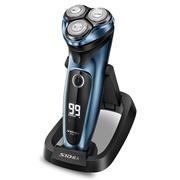 超人 剃须刀电动 智能三刀头全身水洗送充电底座  RS357