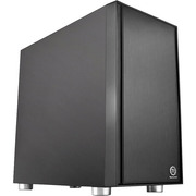 Thermaltake 启航者F1 黑色静音版 Mini机箱(支持MATX主板/独立电源仓/支持背线/侧透/钢板0.6mm/U3)