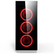 爱国者 月光宝盒曜 白色 玻璃机箱(支持ATX主板/4面钢化玻璃/标配5只极光RGB风扇/支持360MM冷排)