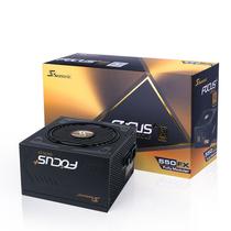 海韵 额定550W FOCUS+550FX 电源(80PLUS金牌/全模组/140mm尺寸/静音低载风扇转停)产品图片主图