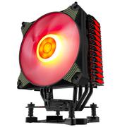 爱国者 冰魄K4冰光版 红光 CPU散热器(多平台/支持AMD4/智能温控/单色呼吸灯闪烁/12CM风扇/附硅脂)
