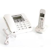 得力  791 数字无绳电话机/子母机2.4G 来电显示 全免提 素雅白