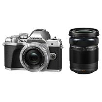 奥林巴斯 E-M10 MarkIII-14-42mm EZ + 40-150mm R 银色 微单电双镜头套装产品图片主图