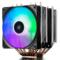 九州风神 大霜塔RGB CPU散热器 (17种RGB灯效/6热管/双RGB风扇/附带硅脂/线控)产品图片1