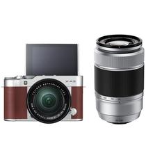 富士 X-A3 (XC16-50II/XC50-230II) 棕褐色 微单电双镜头套机 2420万像素 180度翻转触摸屏 WIFI产品图片主图