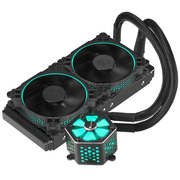 乔思伯 TW-240 CPU水冷散热器 (铝合金冷头罩、RGB灯光同步/支持AURA RGB/12CM温控风扇/多平台)