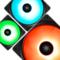 九州风神 魔环120 RGB 三联包电脑机箱风扇(12CM/RGB LED灯珠/水冷排散热/支持RGB SYNC主板)产品图片1