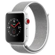 苹果 Watch Series 3智能手表(GPS+蜂窝网络款 42毫米 银色铝金属表壳 海贝色回环式运动表带 MQQV2CH/A)