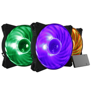 酷冷 MasterFan Pro RGB 机箱风扇套装(均衡型旋翼扇叶/带RGB控制器/4主板厂灯效认证)