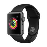 苹果 Watch Series 3智能手表(GPS款 38毫米 深空灰色铝金属表壳 黑色运动型表带 MQKV2CH/A)