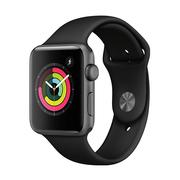 苹果 Watch Series 3智能手表(GPS款 42毫米 深空灰色铝金属表壳 黑色运动型表带 MQL12CH/A)