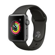 苹果 Watch Series 3智能手表(GPS款 38毫米 深空灰色铝金属表壳 灰色运动型表带 MR352CH/A)