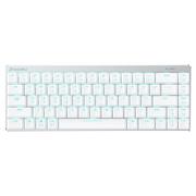 达尔优 EK820 超薄68键游戏背光办公机械键盘 有线蓝牙双模式切换 白银色 巧克力红轴 绝地求生吃鸡利器
