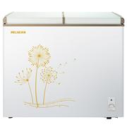 美菱 BC/BD-213AT 213升单温冷柜 蝶形门 一机四用 冷藏冷冻转换冰柜 商用家用变温柜 卧式冰箱(白)