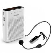 飞利浦  SBM220 广场级音效小音响 小蜜蜂扩音器 插卡音箱 教学/导游专用 屏幕显示 FM收音 音乐播放器 白色