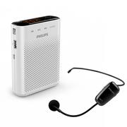 飞利浦  SBM230 小蜜蜂无线扩音器 插卡音箱 教学/导游/商务会议专用迷你音响 屏幕显示 FM收音 播放器 白色