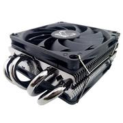 大镰刀 JT8039-P CPU下压式散热器(支持115X , AM4平台/4热管/49mm总高/8cm智能温控双风扇)