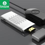 BIAZE 无线HDMI同屏器 5G双频推送宝airplay手机连接电视投屏视频传输器高清电视投影传屏器 R12-白色