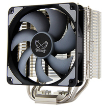 大镰刀 YJ-1204 CPU散热器 全镀镍(支持115X/1366/AM4平台/4热管/154mm总高/12cmPWM 镞散热器)产品图片主图