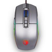 赛德斯 极光 机械游戏鼠标有线lol(金属灰) RGB电竞牧马人风格CF 绝地求生吃鸡宏辅助CF编程鼠标