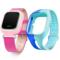 小天才 电话手表Y01 经典版 皮革粉色 儿童智能手表360度安全防护 学生定位手机 儿童电话手表 +硅胶蓝表带产品图片1