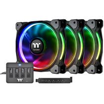 Thermaltake Riing Plus H14 LED RGB 机箱风扇(风扇*3/256色/手动控制盒/灯光同步主板/LED导光圈)产品图片主图