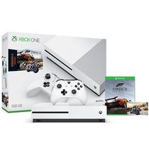 微软 Xbox One S 500G家庭娱乐游戏机套装(飞速骑行+极限竞速)产品图片主图