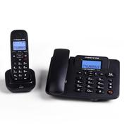 中诺 W128 数字无绳子母电话机免提套装办公家用一拖一固定无线座机  HWDCD6238(9)P/TSD黑色