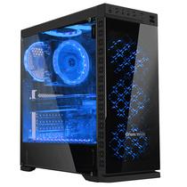 长城 本色M-62电竞游戏机箱黑色(水冷/全侧透/钢化玻璃面板/磁吸防尘/长显卡)产品图片主图